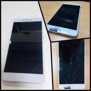 Ремонт телефона - замена разбитого модуля